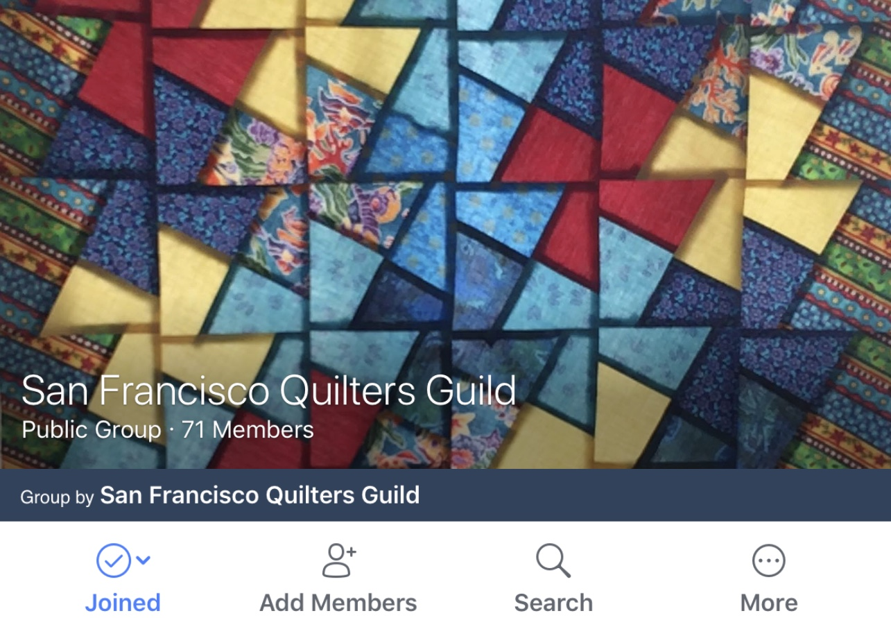 FaceBook Group - sfquiltersguild | San Francisco Quilters